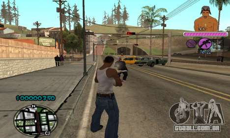 C-HUD 2Pac para GTA San Andreas por diante tela