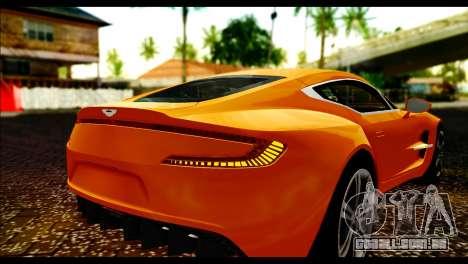 Aston Martin One-77 Black para GTA San Andreas vista traseira