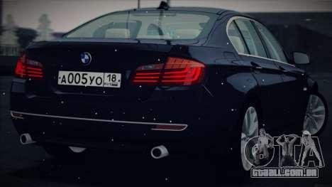 BMW 535i F10 para GTA San Andreas vista direita