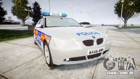 BMW 525d E60 2006 Police [ELS] para GTA 4