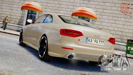 Audi RS4 B8 2013 v1 para GTA 4 esquerda vista