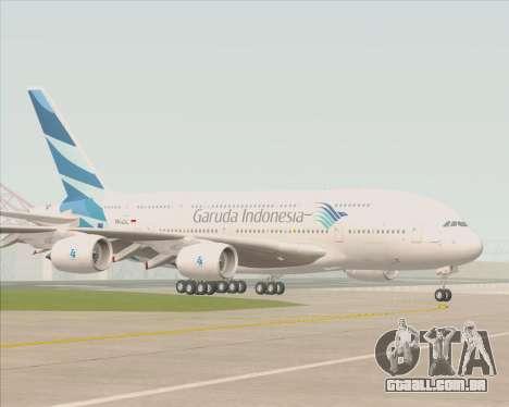Airbus A380-800 Garuda Indonesia para GTA San Andreas vista superior