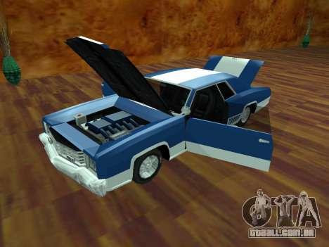 Buccaneer Turbo para GTA San Andreas traseira esquerda vista