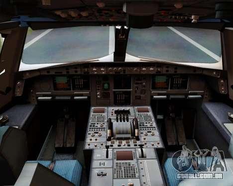 Airbus A380-800 Emirates 40 Anniversary Sticker para GTA San Andreas interior