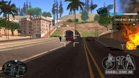 C-HUD Blue para GTA San Andreas por diante tela