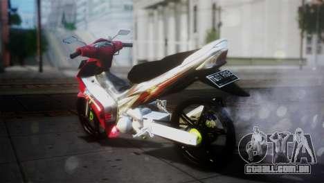 Yamaha Jupiter Mx para GTA San Andreas traseira esquerda vista