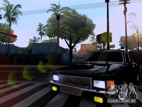 Volga GAZ 3102 para GTA San Andreas vista traseira