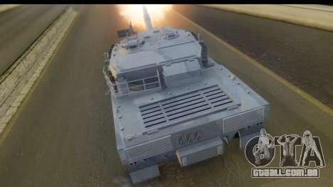 GTA V Rhino V2 para GTA San Andreas esquerda vista