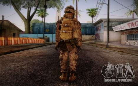 Blackburn from Battlefield 3 para GTA San Andreas segunda tela