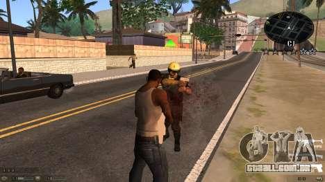 C-HUD Blue para GTA San Andreas segunda tela