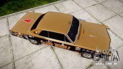 Pontiac GTO 1965 GeeTO Tiger para GTA 4 vista direita