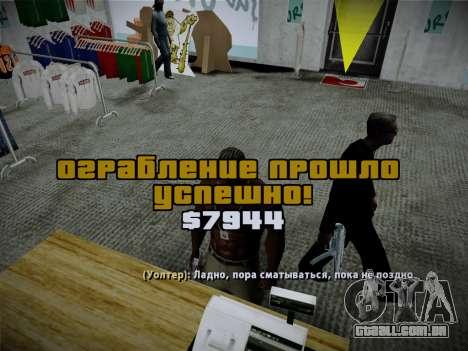Sistema de roubos v4.0 para GTA San Andreas décimo tela