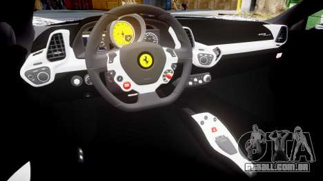 Ferrari 458 Italia 2010 v3.0 Sharpie para GTA 4 vista interior