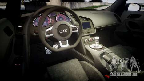 Audi R8 plus 2013 HRE rims Sharpie para GTA 4 vista lateral