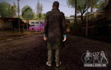 Aiden Pearce from Watch Dogs v9 para GTA San Andreas segunda tela