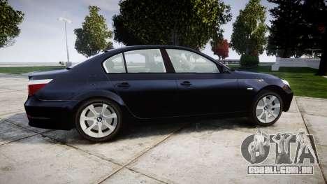 BMW 525d E60 2009 Police [ELS] Unmarked para GTA 4 esquerda vista