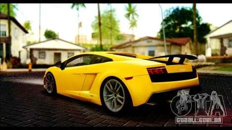 Lamborghini Gallardo LP 570-4 para GTA San Andreas esquerda vista