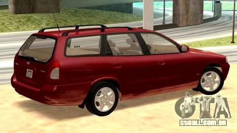 Daewoo Nubira eu Vagão CDX-NOS de 1999 para GTA San Andreas traseira esquerda vista