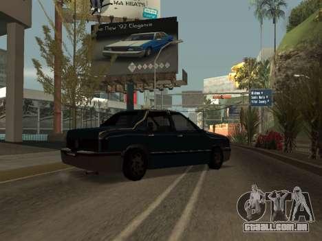 Beta Elegant para GTA San Andreas traseira esquerda vista