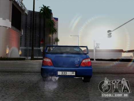 Subaru impreza WRX STI 2004 para GTA San Andreas esquerda vista