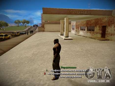 Sistema de roubos v4.0 para GTA San Andreas por diante tela