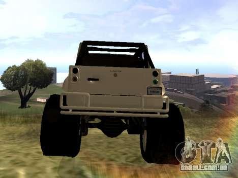 GTA 5 Mesa MerryWeather version para GTA San Andreas traseira esquerda vista