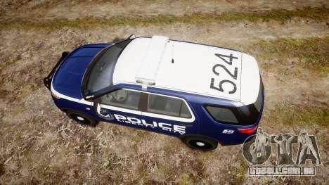 Ford Explorer 2013 LCPD [ELS] v1.0L para GTA 4 vista direita