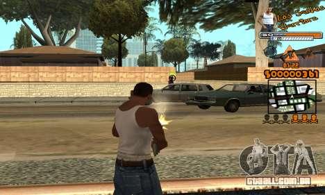 C-HUD LSW para GTA San Andreas por diante tela