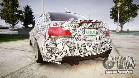 BMW 1M 2011 Sharpie para GTA 4 traseira esquerda vista
