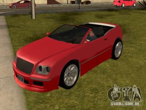 Cognoscenti Cabrio para GTA San Andreas