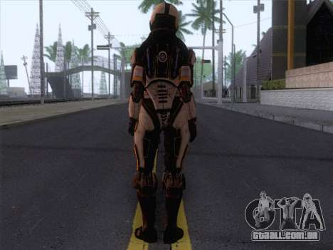 Cerberus Female Armor from Mass Effect 3 para GTA San Andreas segunda tela