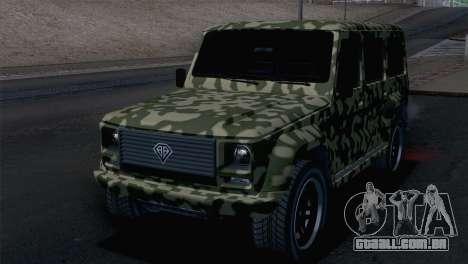GTA 5 Benefactor Dubsta para GTA San Andreas vista traseira