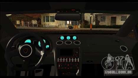 Lamborghini Gallardo LP 570-4 para GTA San Andreas vista traseira