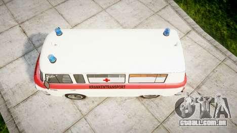 Barkas B1000 1961 Ambulance para GTA 4 vista direita
