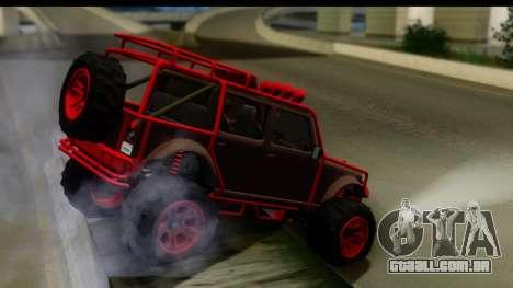 GTA 5 Mesa MerryWeather para GTA San Andreas esquerda vista