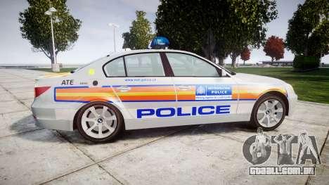 BMW 525d E60 2006 Police [ELS] para GTA 4 esquerda vista