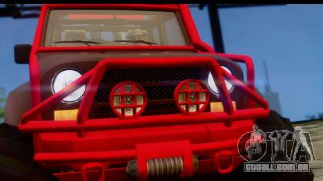 GTA 5 Mesa MerryWeather para GTA San Andreas traseira esquerda vista