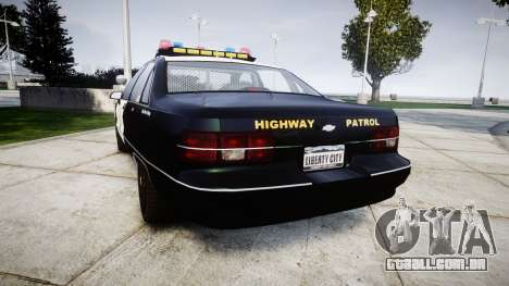 Chevrolet Caprice 1991 Highway Patrol [ELS] para GTA 4 traseira esquerda vista