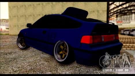 Honda CRX para GTA San Andreas esquerda vista