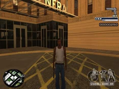 CLEO HUD Spiceman para GTA San Andreas por diante tela