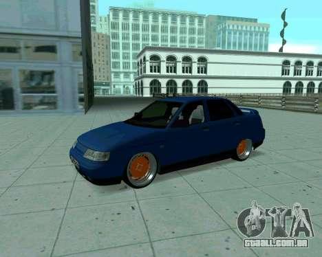 VAZ 2110 de Táxi para GTA San Andreas esquerda vista
