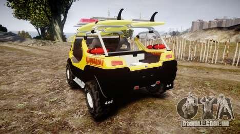 Ford Intruder Lifeguard Beach [ELS] para GTA 4 traseira esquerda vista