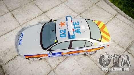 BMW 525d E60 2006 Police [ELS] para GTA 4 vista direita