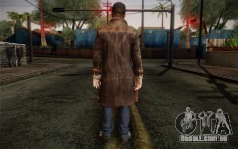 Aiden Pearce from Watch Dogs v12 para GTA San Andreas segunda tela