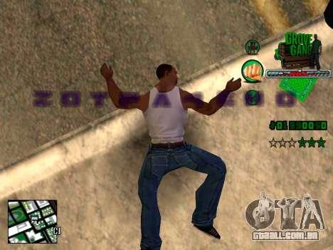 C-HUD Grove Street TAWER para GTA San Andreas terceira tela