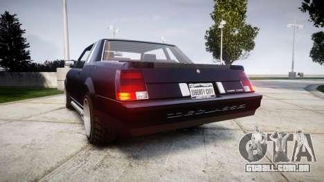 Declasse Sabre Premium para GTA 4 traseira esquerda vista