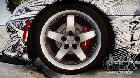 Dodge Viper SRT GTS 2013 Sharpie para GTA 4 vista de volta