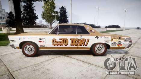 Pontiac GTO 1965 GeeTO Tiger para GTA 4 esquerda vista