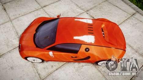 Bugatti Veyron 16.4 SS [EPM] Halloween Special para GTA 4 vista direita