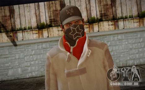 Aiden Pearce from Watch Dogs v1 para GTA San Andreas terceira tela